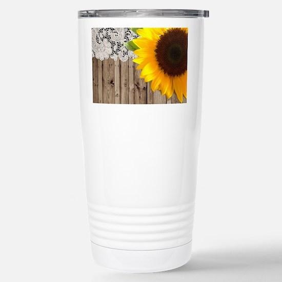 rustic barn yellow sunf Stainless Steel Travel Mug