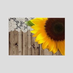 rustic barn yellow sunflower Magnets