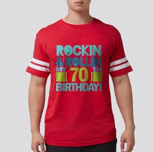70th Birthday Rock White T-Shirt