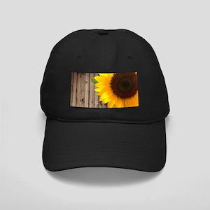 rustic barn yellow sunflower Black Cap