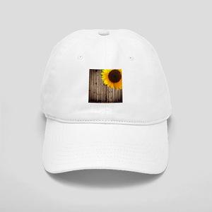 rustic barn yellow sunflower Cap