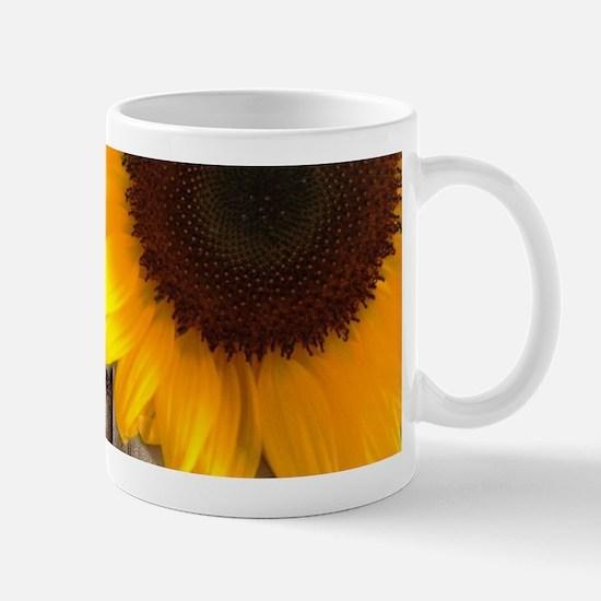 rustic barn yellow sunflower Mugs