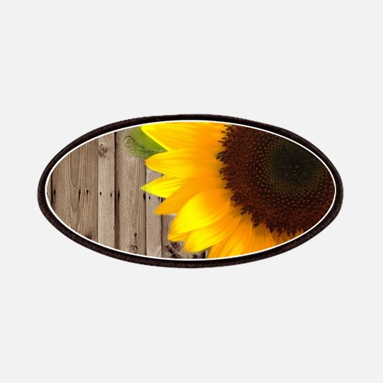 rustic barn yellow sunflower Patch