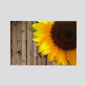 rustic barn yellow sunflower Magnets