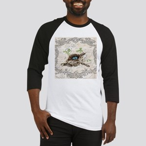 modern vintage french bird nest Baseball Jersey
