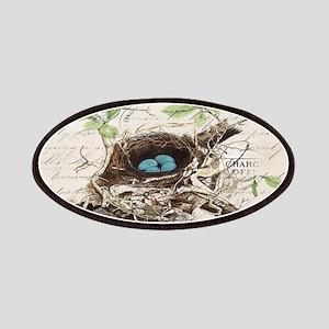 modern vintage french bird nest Patch