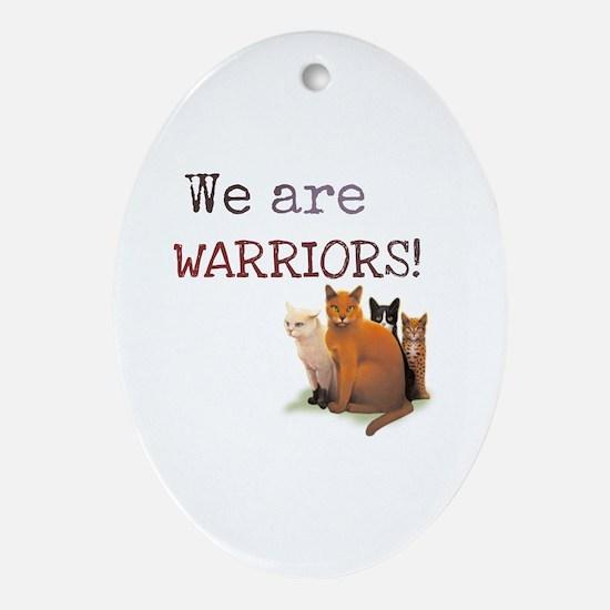 Unique Warrior Oval Ornament