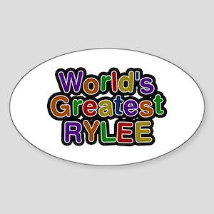 World's Greatest Rylee Oval Sticker