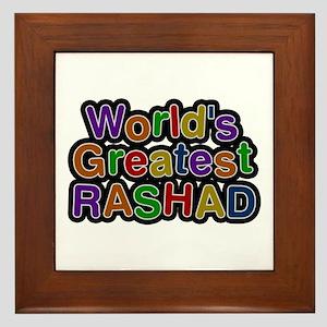 World's Greatest Rashad Framed Tile