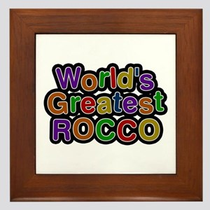 World's Greatest Rocco Framed Tile