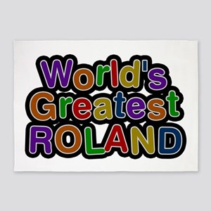 World's Greatest Roland 5'x7' Area Rug