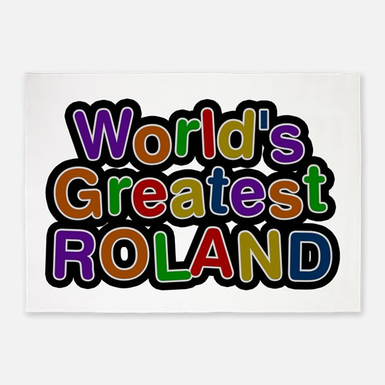 World's Greatest Roland 5'x7' Area Rug