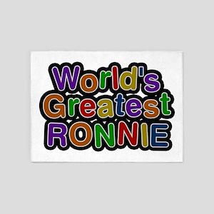 World's Greatest Ronnie 5'x7' Area Rug