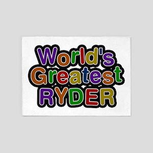 World's Greatest Ryder 5'x7' Area Rug