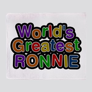 World's Greatest Ronnie Throw Blanket