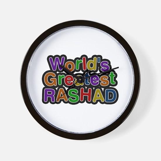 World's Greatest Rashad Wall Clock