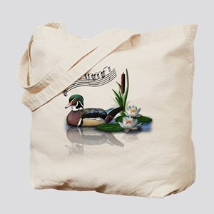Wood Duck Pond Notes Tote Bag