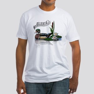 Wood Duck Pond Notes Fitted T-Shirt