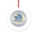 G.A.N.S. Logo Round Ornament