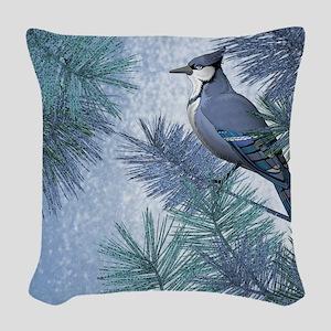 Snowjay Woven Throw Pillow