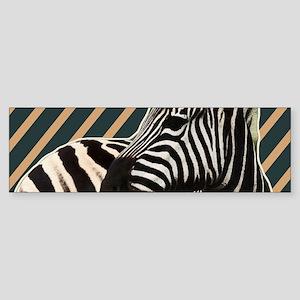 modern stripes hipster zebra Bumper Sticker