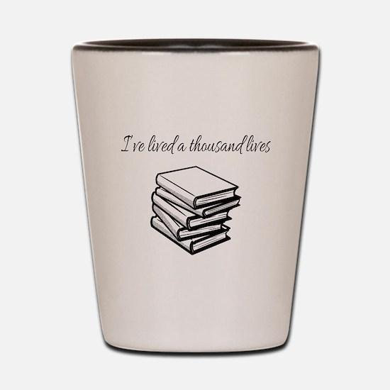 Funny I read banned books Shot Glass