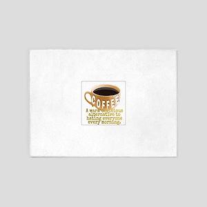 Coffee humor 5'x7'Area Rug
