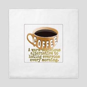 Coffee humor Queen Duvet