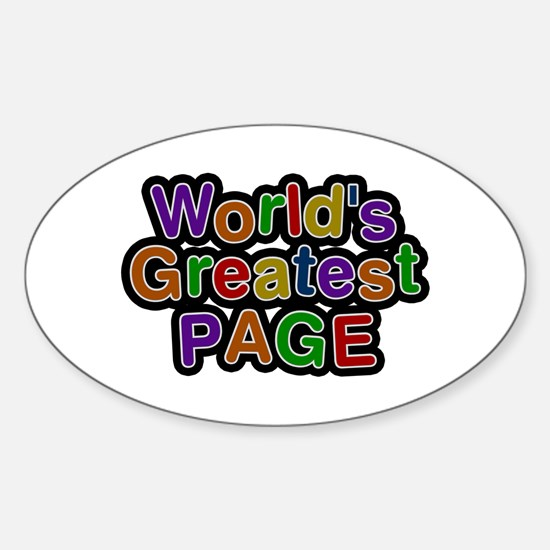 World's Greatest Page Oval Decal