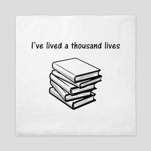 I've lived a thousand lives Books Queen Duvet