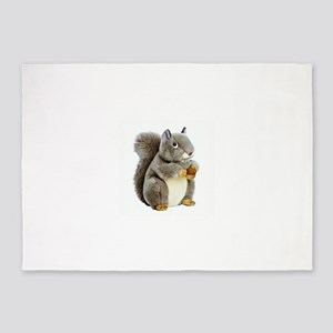 Stuffed Squirrel 5'x7'Area Rug
