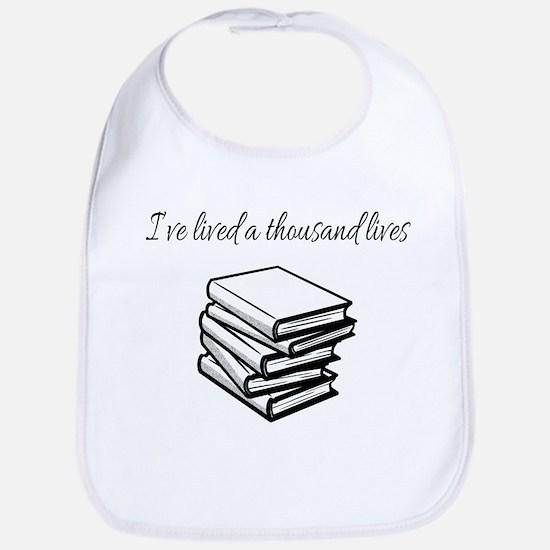 I've lived a thousand lives Books Baby Bib