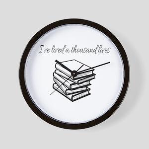 I've lived a thousand lives Books Wall Clock