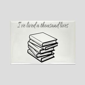I've lived a thousand lives Books Magnets