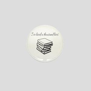 I've lived a thousand lives Books Mini Button