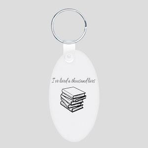 I've lived a thousand lives Books Keychains