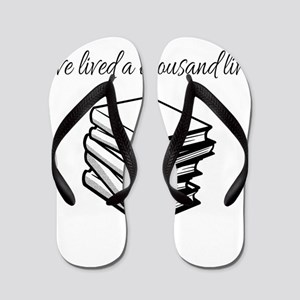 I've lived a thousand lives Books Flip Flops