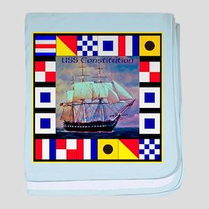 USS Constitution baby blanket
