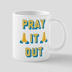 Emoji Pray it Out 11 oz Ceramic Mug