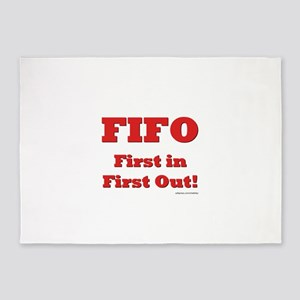 FIFO: First In First Out 5'x7'Area Rug