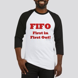 FIFO: First In First Out Baseball Jersey