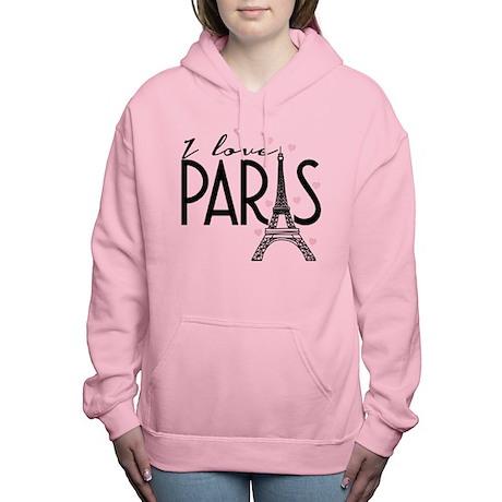 I Love Paris Women's Hooded Sweatshirt