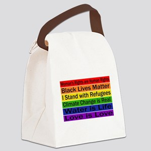 Political Protest Canvas Lunch Bag