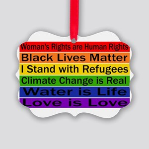 Political Protest Picture Ornament