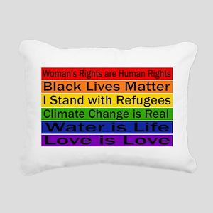 Political Protest Rectangular Canvas Pillow