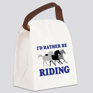 I'd Rather Be Riding Wild Horses Canvas Lunch Bag