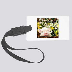 Chin Up! Large Luggage Tag