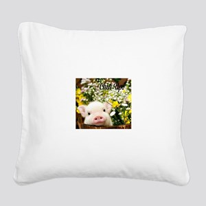Chin Up! Square Canvas Pillow