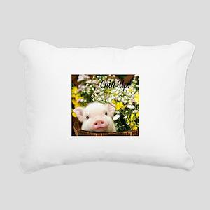 Chin Up! Rectangular Canvas Pillow