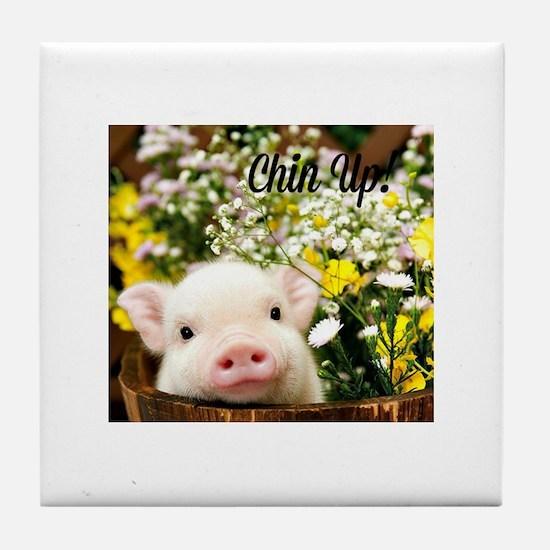 Chin Up! Tile Coaster